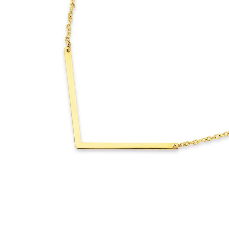 9ct 45cm Chevron Necklet - Pascoes The Jewellers
