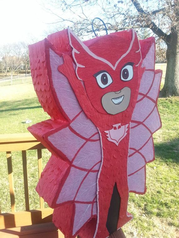 Pj mask birthday owlette inspired pinata by PrettyCreations4fun