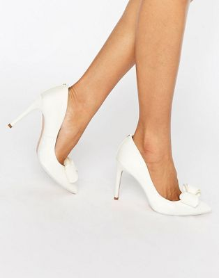 Ted Baker Azeline Tie The Knot Ivory Bow Court Shoes #wedwithted @tedbaker