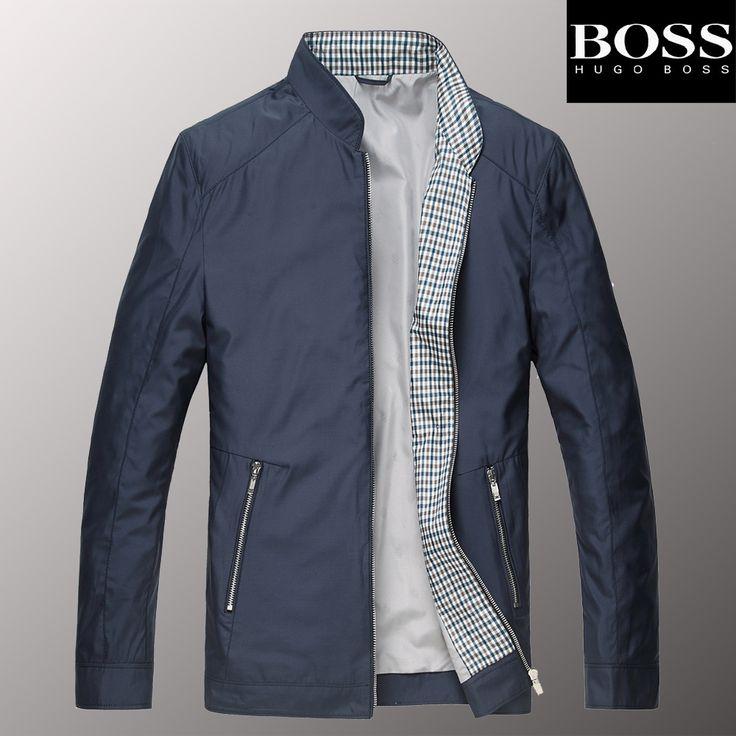 Мужская классическая куртка-ветровка BOSS