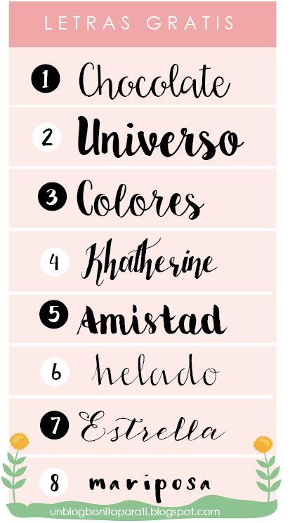 Tipos De Letras Para Hacer Cartelitos Bonitos Diseno De Blogs