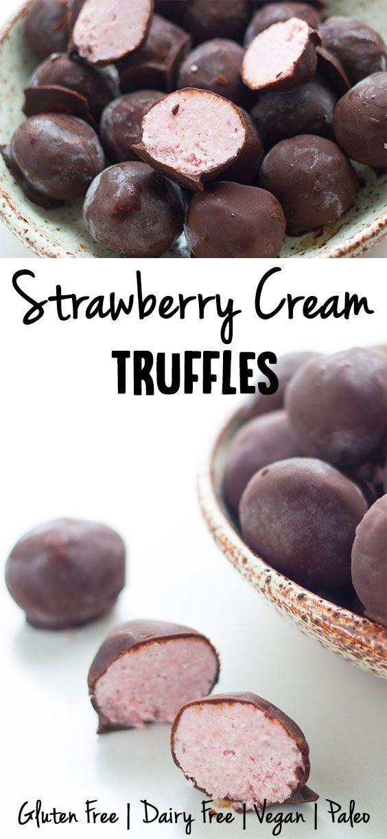strawberry-cream-truffles