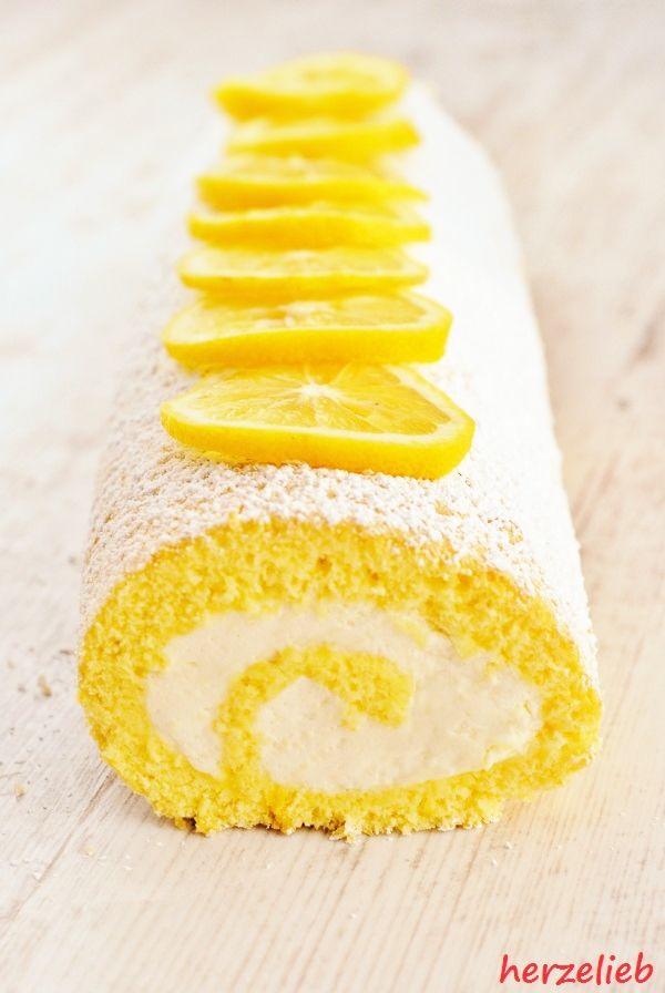 Zitronenrolle, das Rezept für Erfrischung.