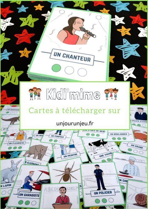 Kidi'mime : un jeu de mimes et d'action à imprimer gratuitement   Jeu de mimes, Idée de mime ...