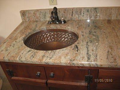 Copper Under Counter Mount Sink Leffler Residence