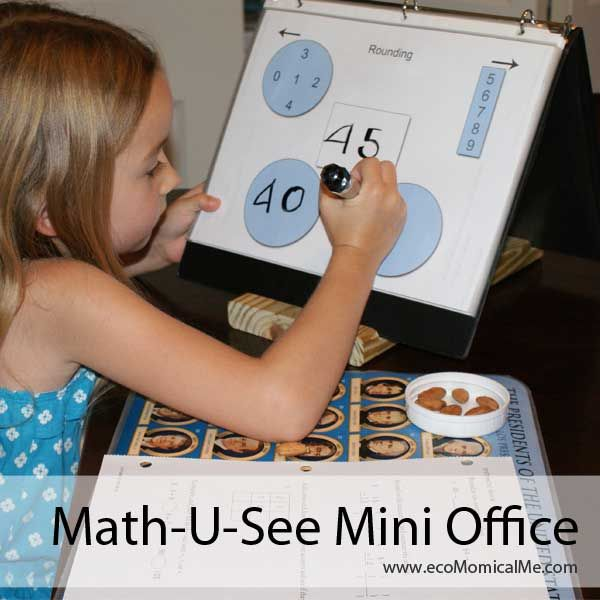 Head over to Ecomomical Me for this free printable Math-U-See Mini Office. Find more free homeschool math resources!