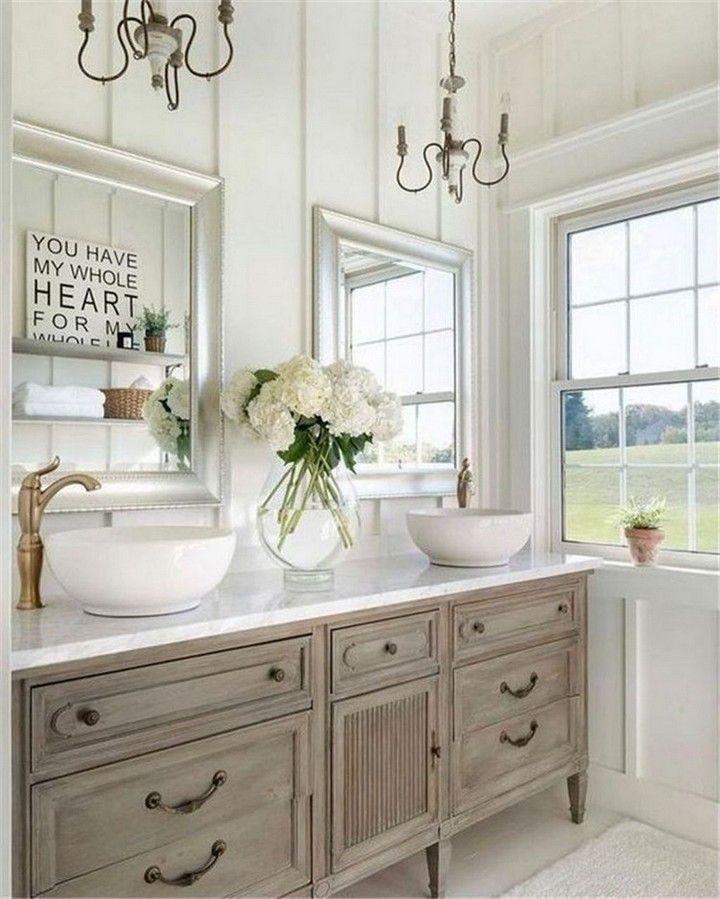 Beautiful Farmhouse Bathroom Ideas in 2020 | Bathroom ...