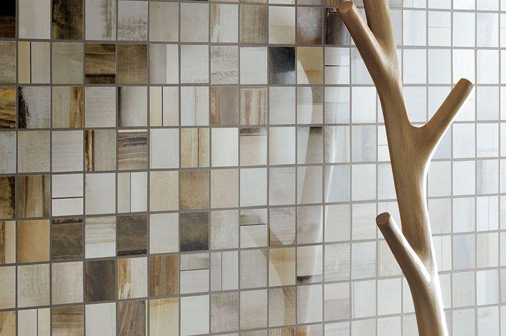 Ceramica Fioranese | #Urban_Wood collection #Mosaic #WallTiles, #Rivestimenti #mosaico #interni