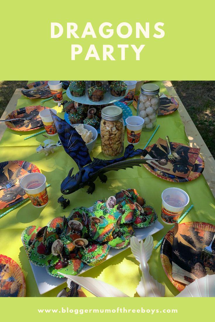 dragons party kindergeburtstag - drachenzähmen mit