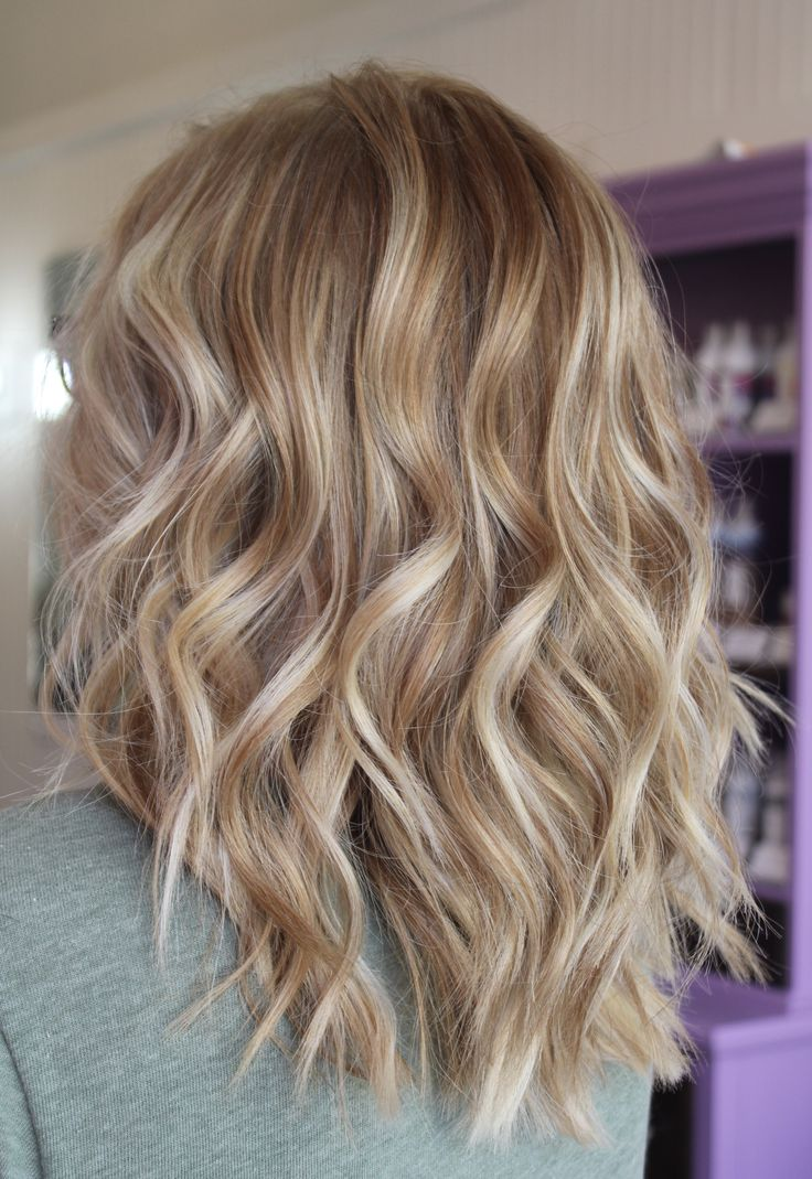 Ombre Hair Brown To Caramel To Blonde Medium Length #latte #CURLS #balayag...