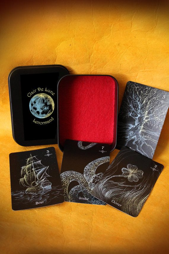 Hey, I found this really awesome Etsy listing at https://www.etsy.com/listing/466540635/clair-de-lune-lenormand-deck-divination