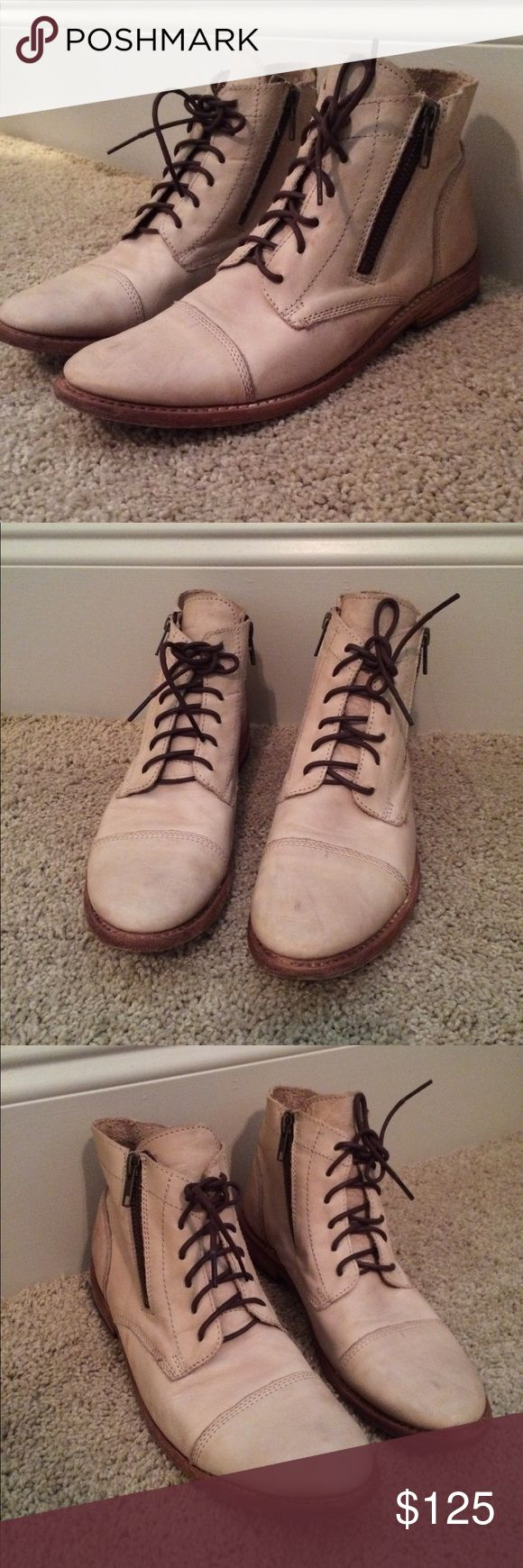 Bed Stu Bonnie boots Nude color. Only worn 2 or 3 times, great condition! Bed Stu Shoes Combat & Moto Boots