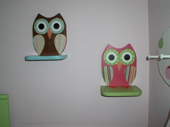 Wooden Owl Shelf by TheWoodenOwl on Etsy, $27.00 - cute for owl themed baby/kid room