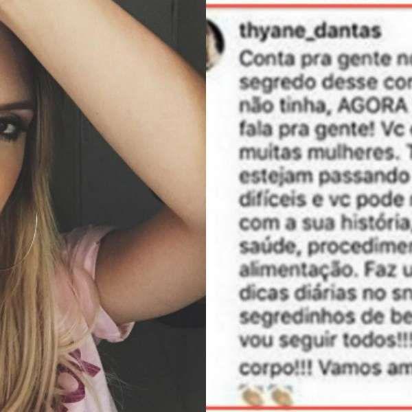 Thyane Dantas é acusada de usar perfil fake para se promover