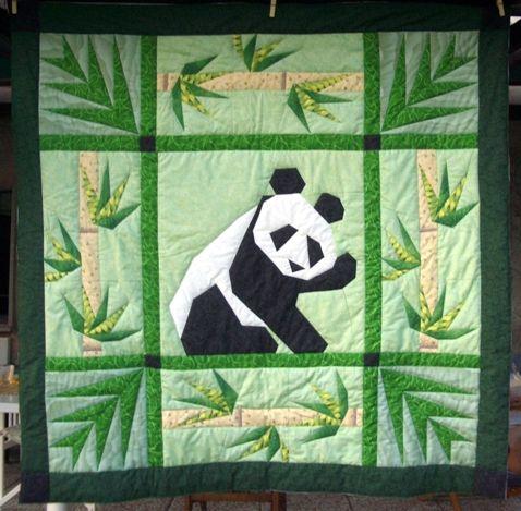 my Panda quilt                                                                                                                                                     More