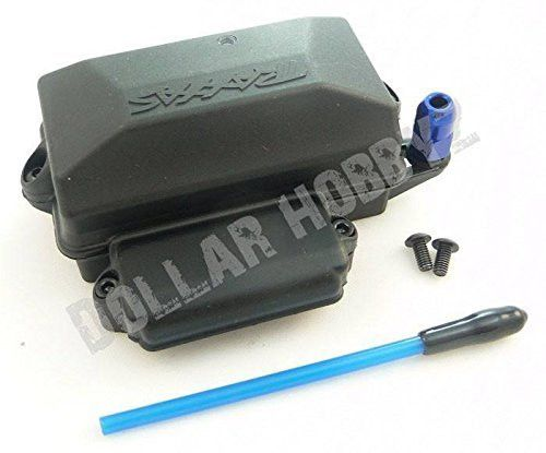 TRAXXAS 5624 WATERPROOF RECEIVER BOX, GREASE, ANTENNA CRIMP NUT & TUBE THIS IS FOR THE SLASH 2WD,SUMMIT 4WD, FORD RAPTOR 2WD,SLASH VXL 2WD, E-REVO BRUSHED AND BRUSHLESS, SLASH 2WD OBA