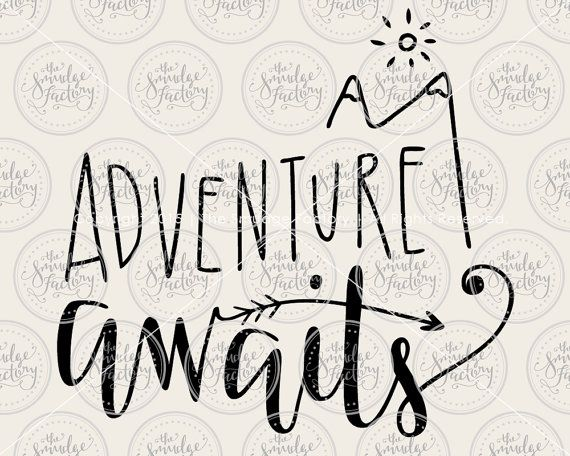 Adventure Awaits SVG Cut File Wanderlust by TheSmudgeFactoryLLC