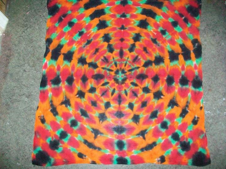 tye dye tapestry