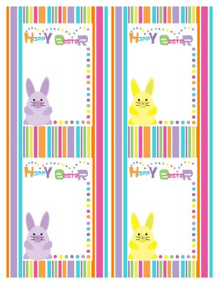 160 best easter tags and printables 2 images on pinterest easter description free sweet cute colorful bunny stripe card for celebrating your easter day designer tricia rennea negle Gallery