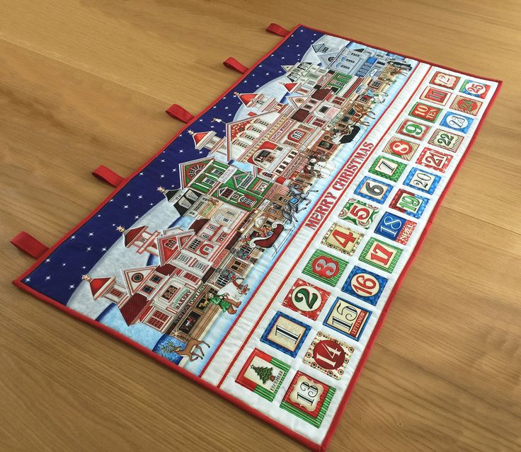 Fabric Advent Calendar, Christmas Holiday Countdown, Heirloom Advent Calendar, Quilted Wall Hanging, Large Fabric Advent Calendar by SewnByVicki on Etsy https://www.etsy.com/uk/listing/519387364/fabric-advent-calendar-christmas-holiday