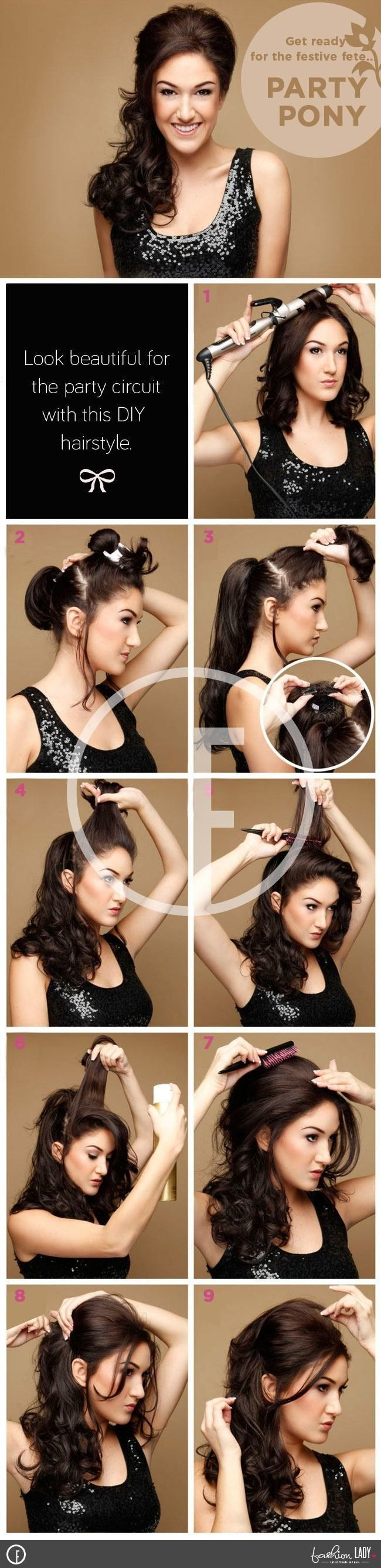 Party Pony – A new Stylish Ponytail Hairstyle for the Party-full Lady