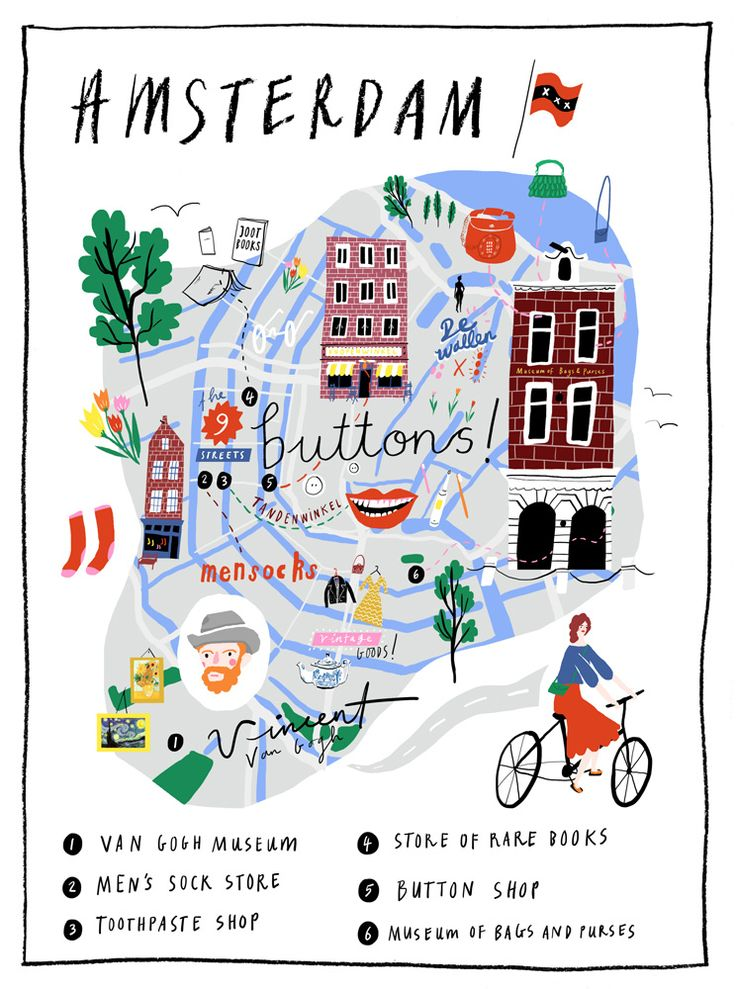 Amsterdam illustrated map