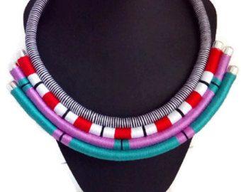 White Collar Masai joyería collar africano por NikaHandmadeJewelry