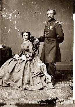 George & Libbie Custer. Libbie never received a condolence letter from President Grant even though her husband died in service to his country. Grant hated Custer for exposing his corrupt administration.