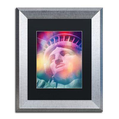 Trademark Art 'Liberty Colors' by Adam Kadmos Framed Graphic Art