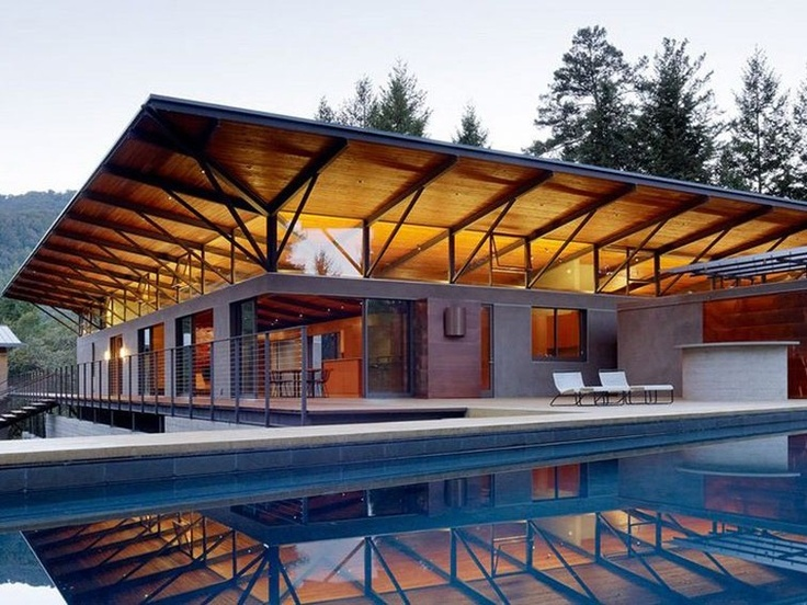 Sonoma mountain house was designed by nielsen schuh architects and is located in sonoma california