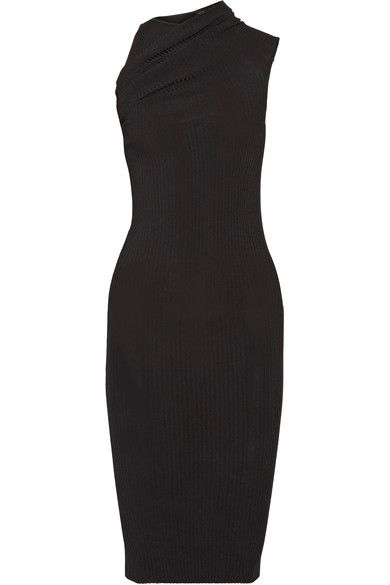 Narciso Rodriguez - Stretch Ribbed-knit Dress - Black - IT40