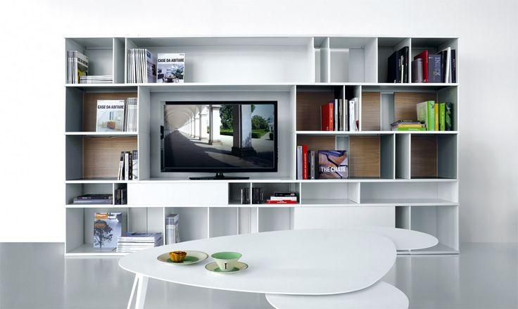 white TV living room bookcase, you can choose between 25% discount and 40% of product value bonus.