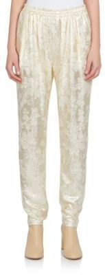 Stella McCartney Lurex-Front Jogger Pants - Shop for women's Pants - GOLD Pants