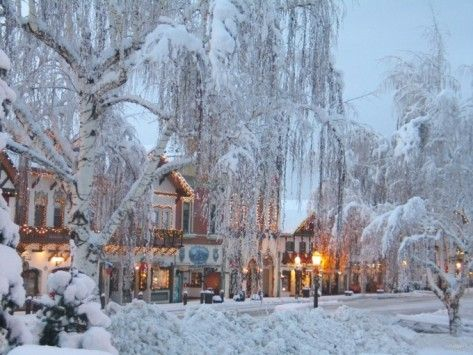 Leavenworth, Washington...I went here during the Christmas Season with a friend from Swedish Hospital..It was absolutley breath taking...