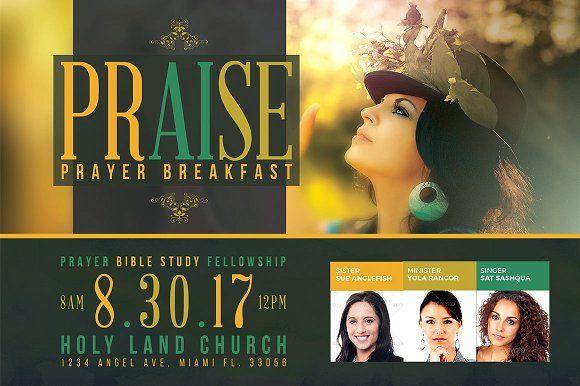 Praise Prayer Breakfast Flyer by SeraphimChris on @creativemarket