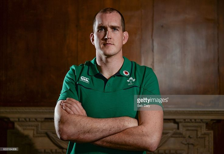 Kildare , Ireland - 31 January 2017; Devin Toner of Ireland poses for portrait following a press conference at Carton House in Maynooth, Co Kildare.