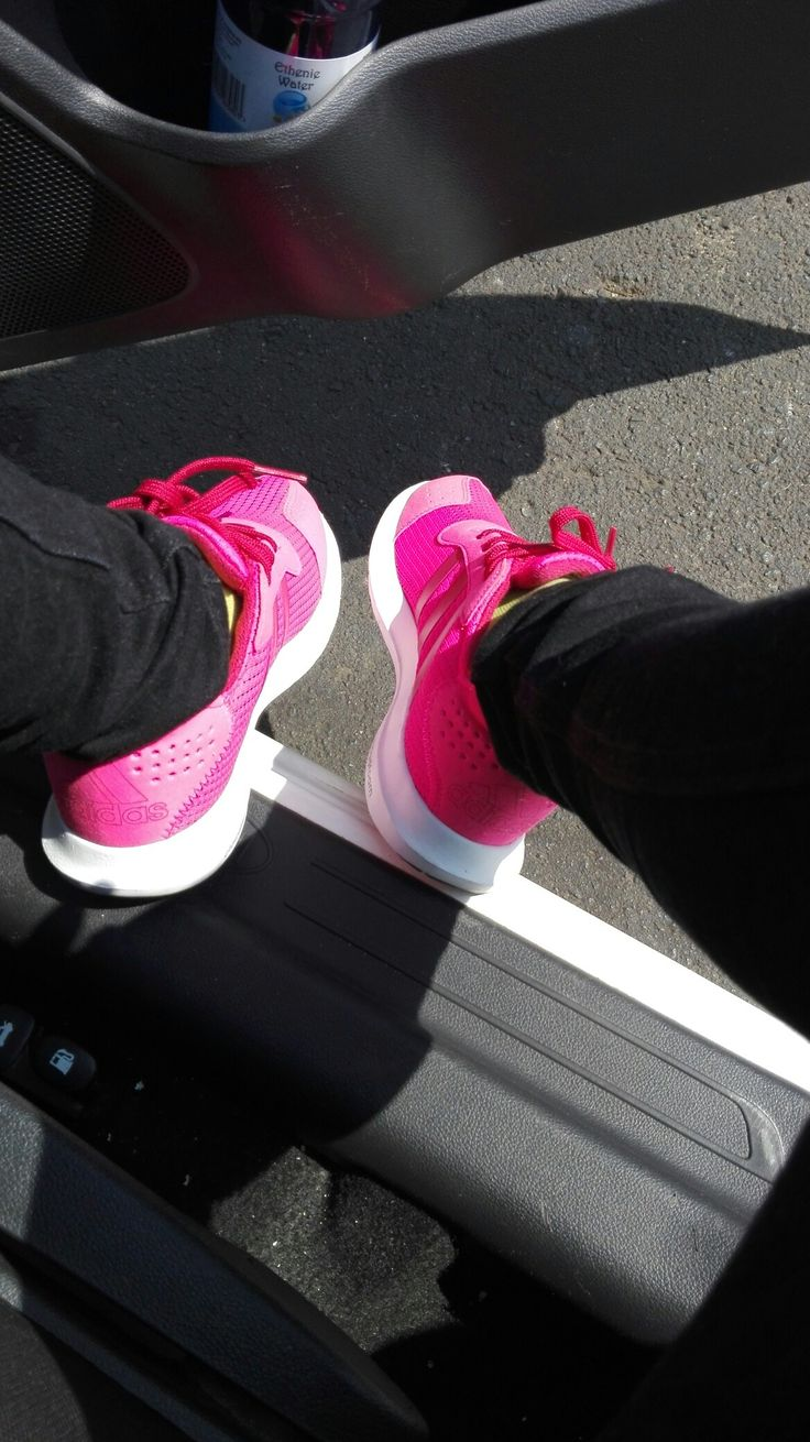 Pink Sneakers, the brighter the better for me... #adidas #cloadfoam #comfort