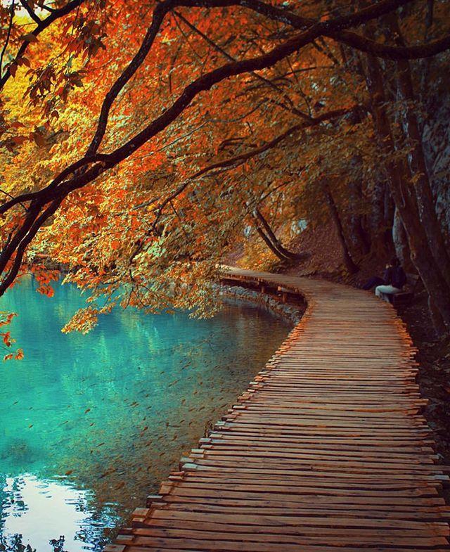 Plitvice lakes National Park, Croatia. Awesome Autumn   photo by Kenan Hurdeniz @oldkyrenian #EarthFocus