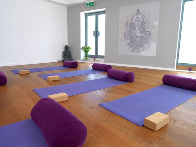 Beautiful yoga space