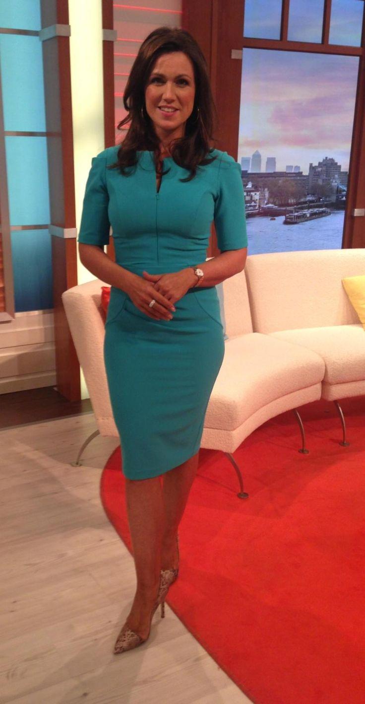 Susanna Reid wearing the Melbourne dress on Good Morning Britain…