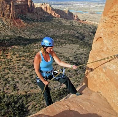 7 Pieces of Rappelling Equipment All Climbers Need: Your essential rappelling equipment: harness, rappel device, personal tether, locking carabiners, ropes, and helmet. Time to rappel!