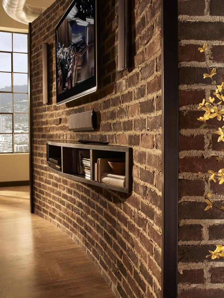 Media Room Brick Wall Design Pictures Remodel