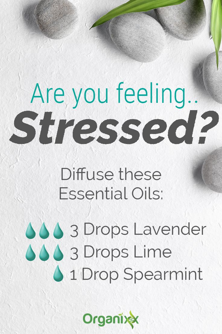 Anti-Stress Essential Oils: Are you feeling stressed? Diffuse these essential oils: 3 drops lavender, 3 drops lime, and 1 drop spearmint. Click on the image above to learn more about the best essential oils for anxiety & stress relief.
