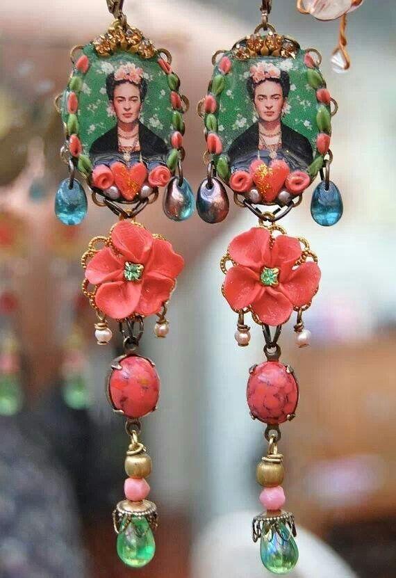 GypsySoul •~• Frida Kahlo earrings