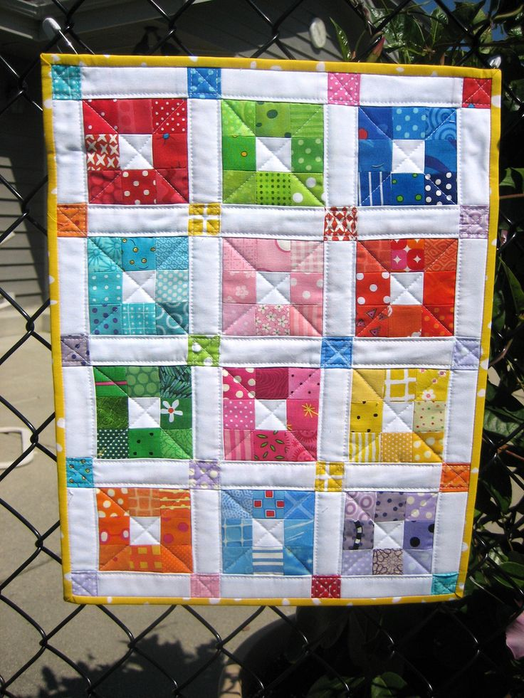 Very cute, 9 patch block with sashing and borders