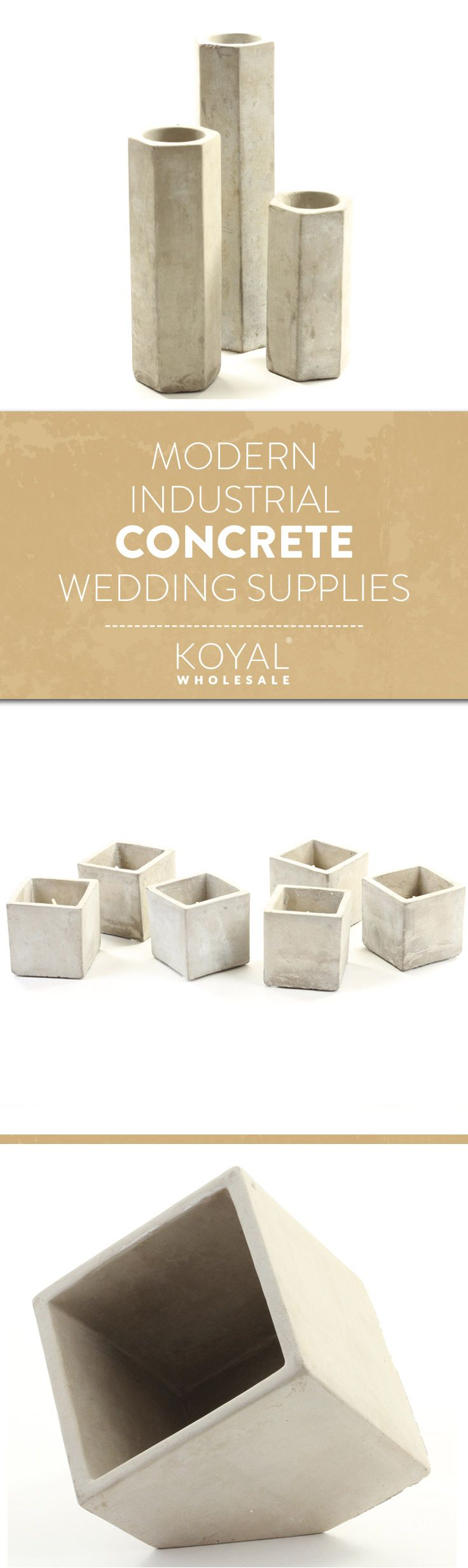 Modern Industrial Concrete Wedding Supplies by KOYAL WHOLESALE  Wholesale Wedding & Special Event Supplies | Free Shipping Over $99+  Wedding Decorations & Centerpieces Vases, Charger Plates, Candle Holders, and More.