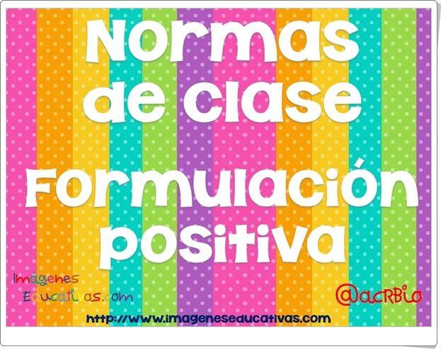 """""""Normas de clase"""" de imageneseducativas.com"""