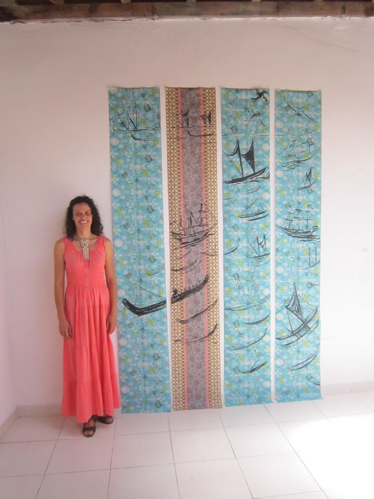 """""""Tangaroa ara rau"""" The Sea God's hundred pathways. Painting, exhibited at A.I.R Vallauris - Artists in Residence, Vallauris, France - 2014."""