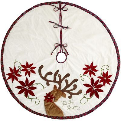 I want a new Christmas tree skirt.  some ideas: Reindeer Tree Skirt