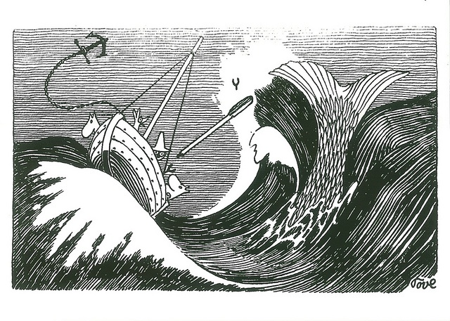 tove jansson depiction of a great fish